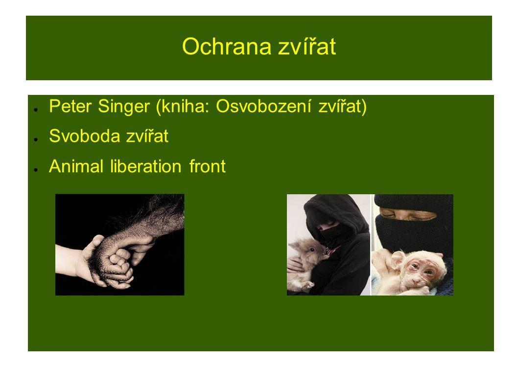 Ochrana zvířat Peter Singer (kniha: Osvobození zvířat) Svoboda zvířat