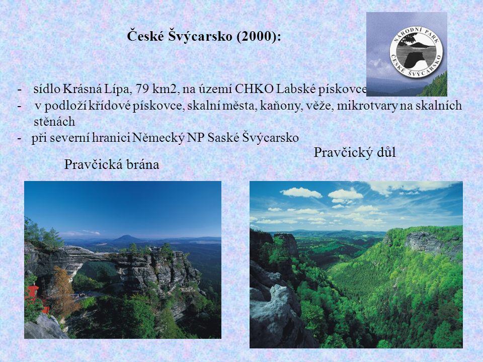 - sídlo Krásná Lípa, 79 km2, na území CHKO Labské pískovce