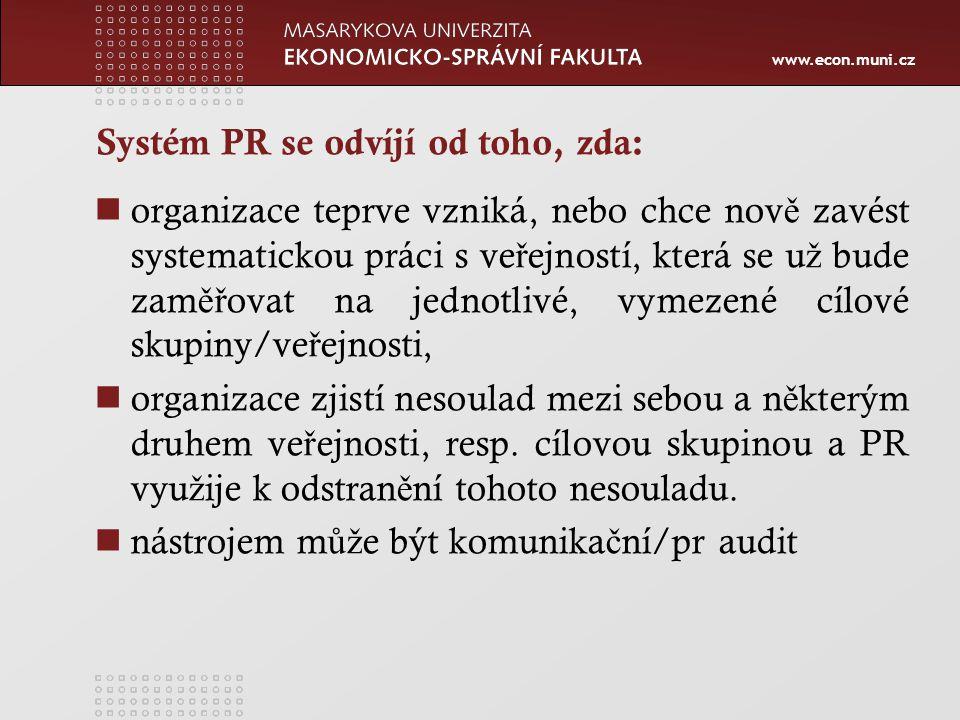 Systém PR se odvíjí od toho, zda: