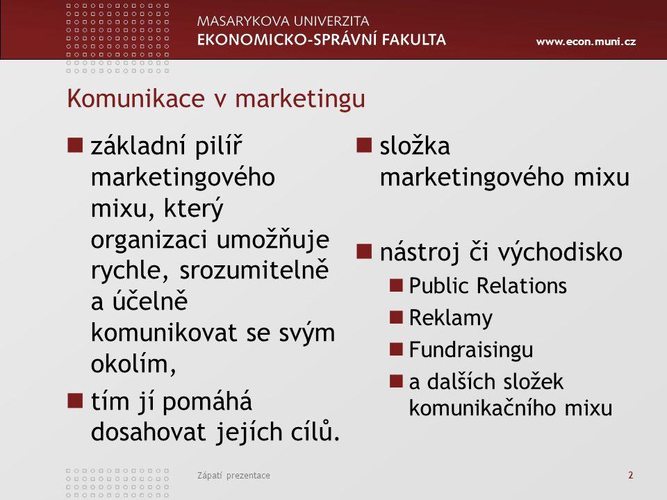 Komunikace v marketingu