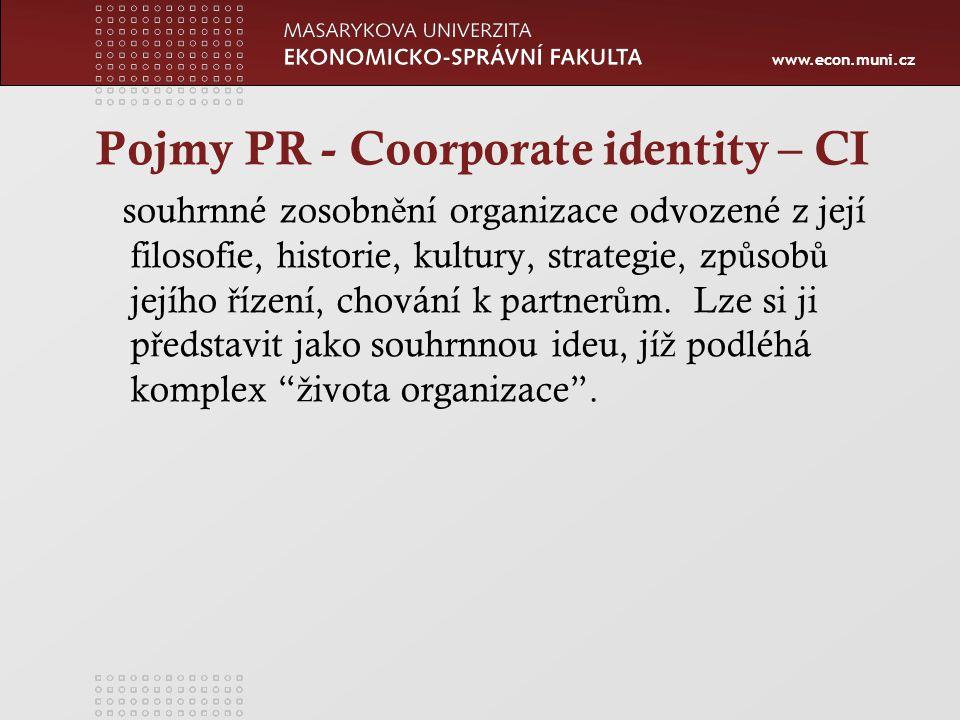 Pojmy PR - Coorporate identity – CI
