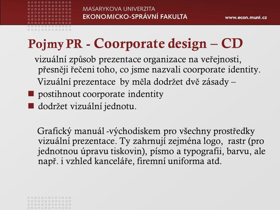 Pojmy PR - Coorporate design – CD