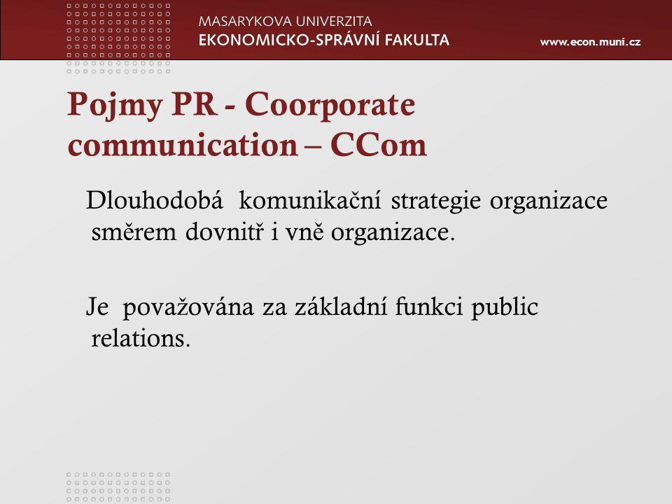 Pojmy PR - Coorporate communication – CCom