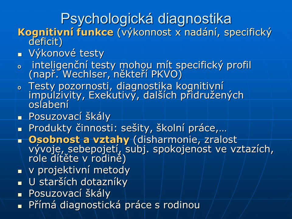 Psychologická diagnostika
