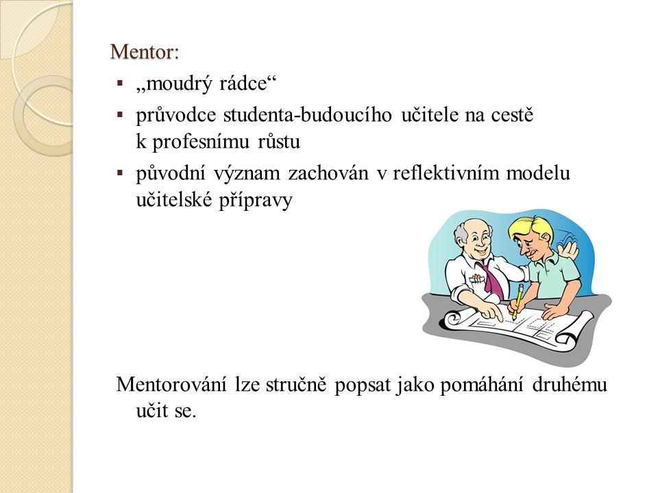 """Mentor: """"moudrý rádce průvodce studenta-budoucího učitele na cestě k profesnímu růstu."""