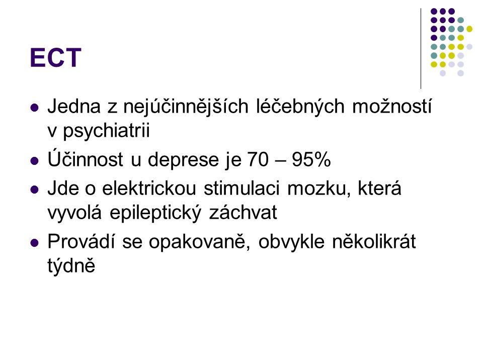 ECT Jedna z nejúčinnějších léčebných možností v psychiatrii