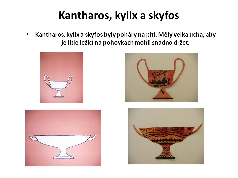 Kantharos, kylix a skyfos