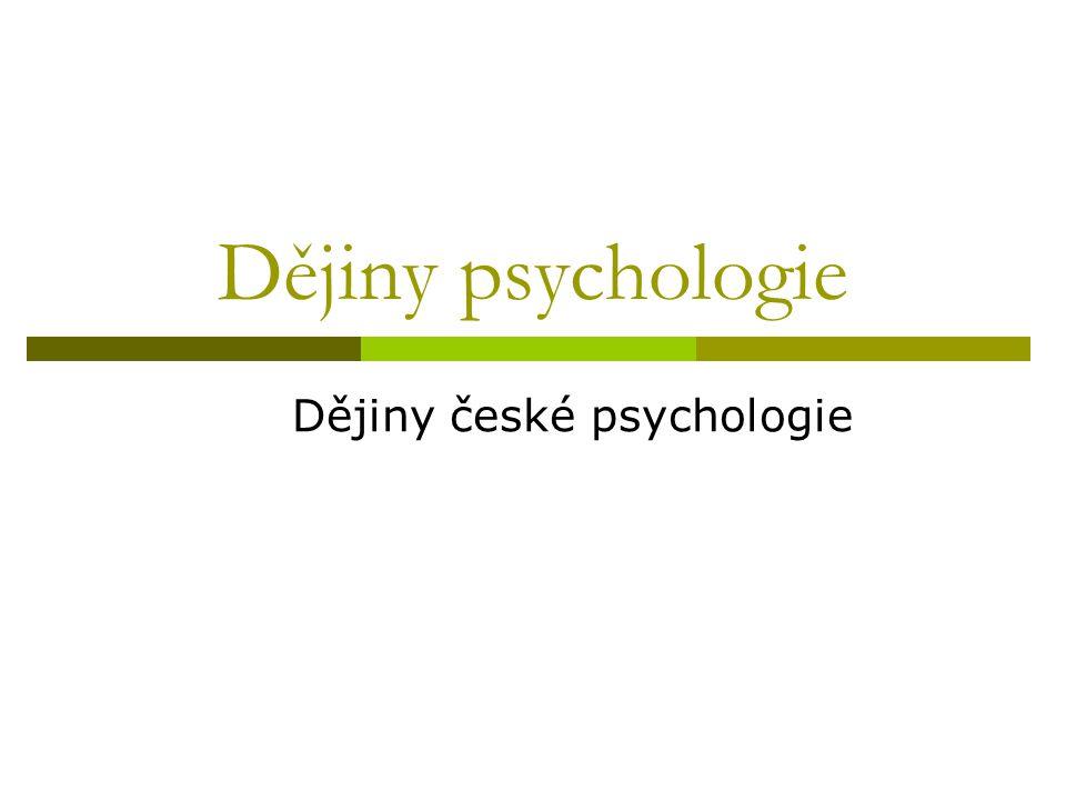 Dějiny české psychologie