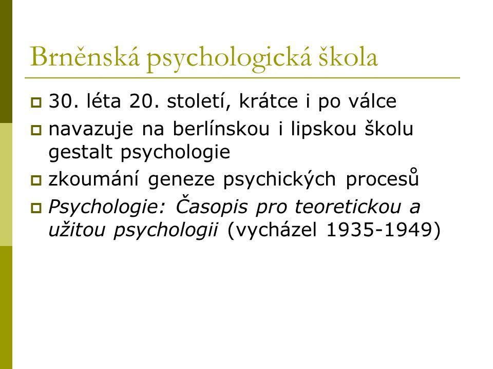 Brněnská psychologická škola