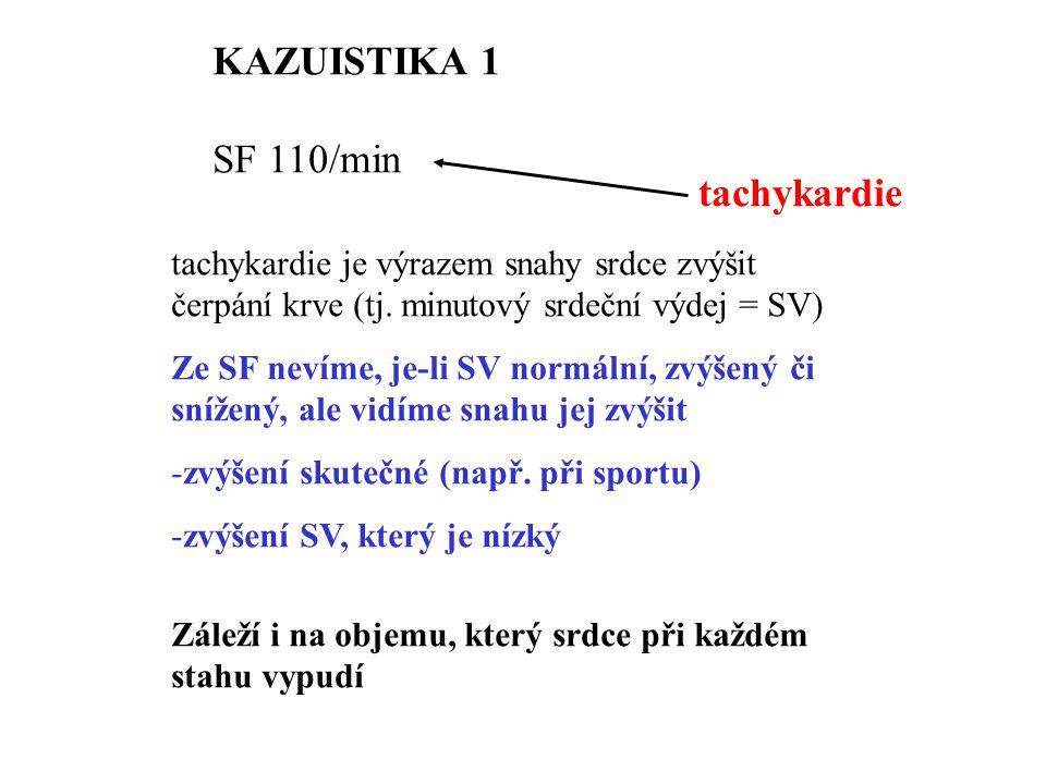 KAZUISTIKA 1 SF 110/min tachykardie