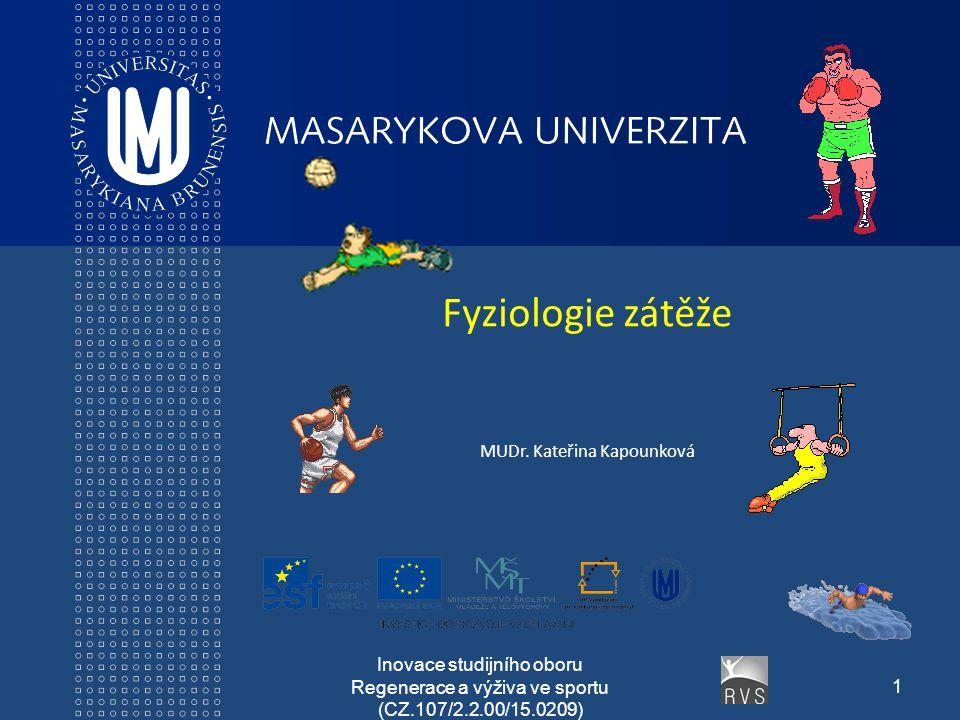 Fyziologie zátěže MUDr. Kateřina Kapounková