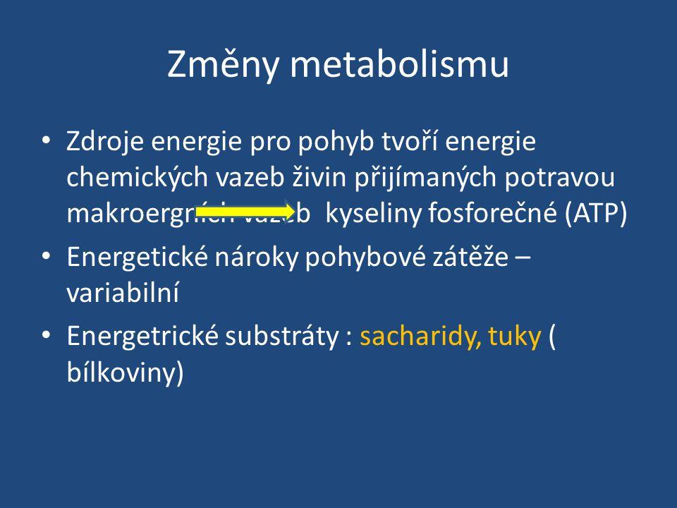 Změny metabolismu
