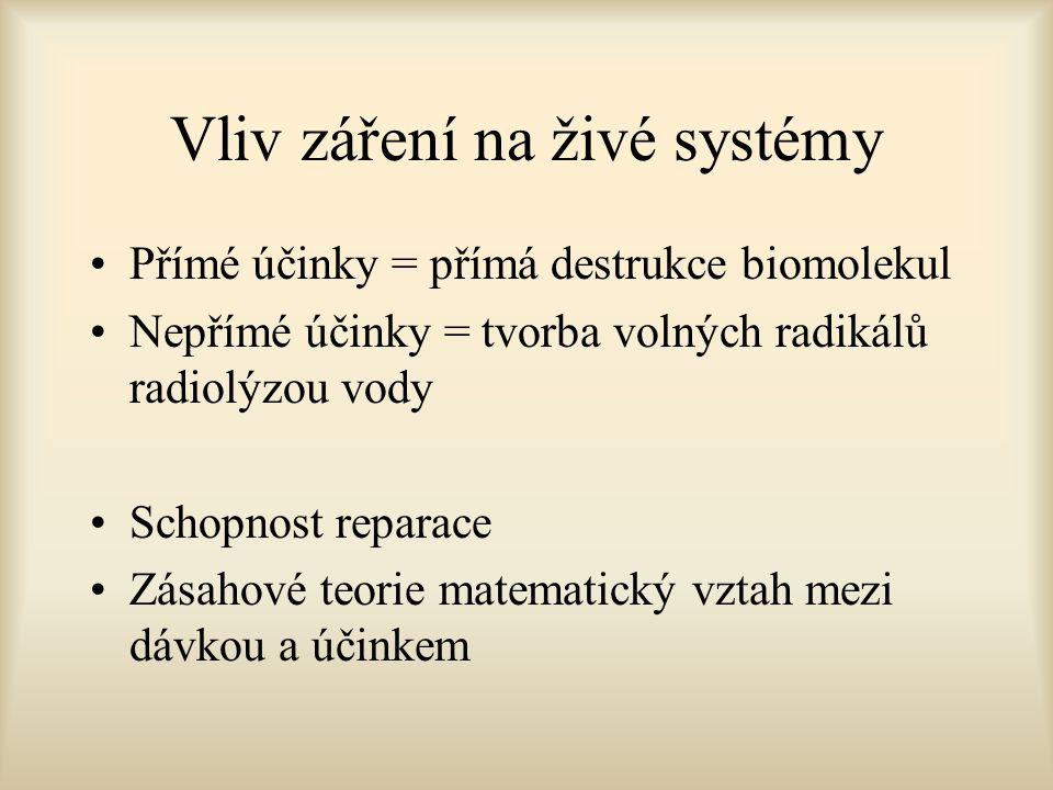 Vliv záření na živé systémy