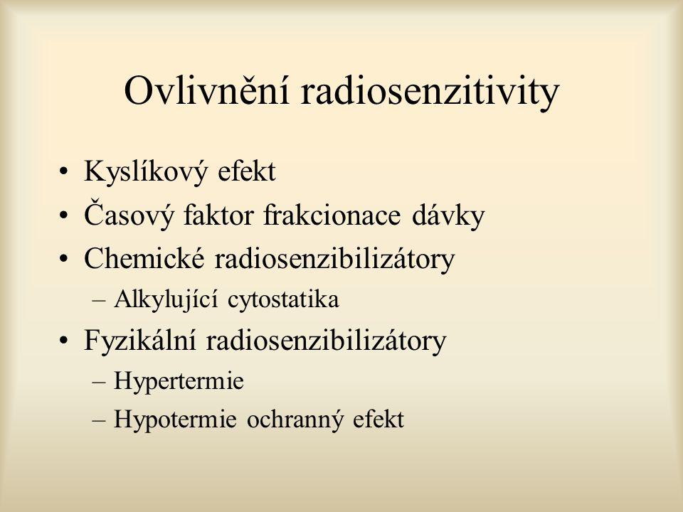 Ovlivnění radiosenzitivity