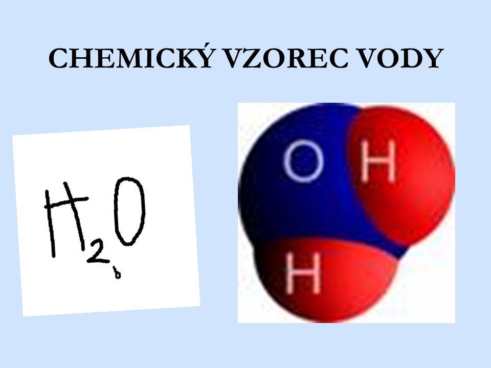 CHEMICKÝ VZOREC VODY
