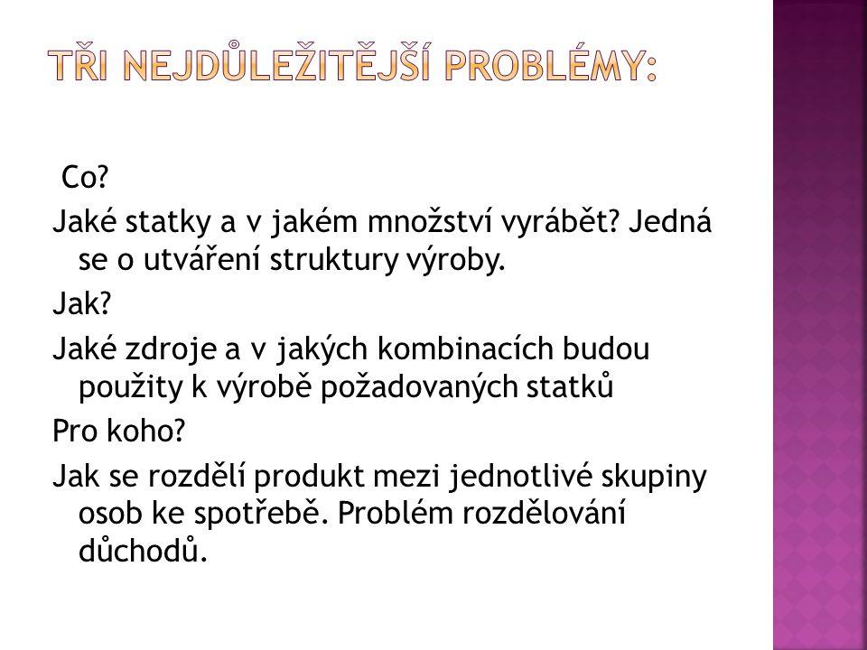 Tři nejdůležitější problémy: