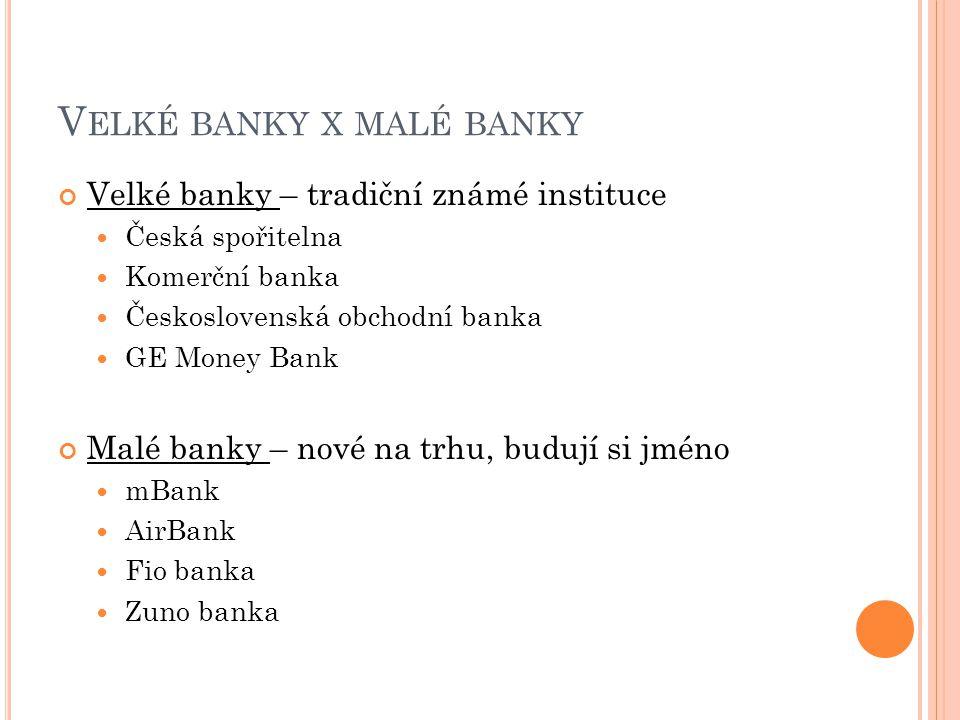 Velké banky x malé banky