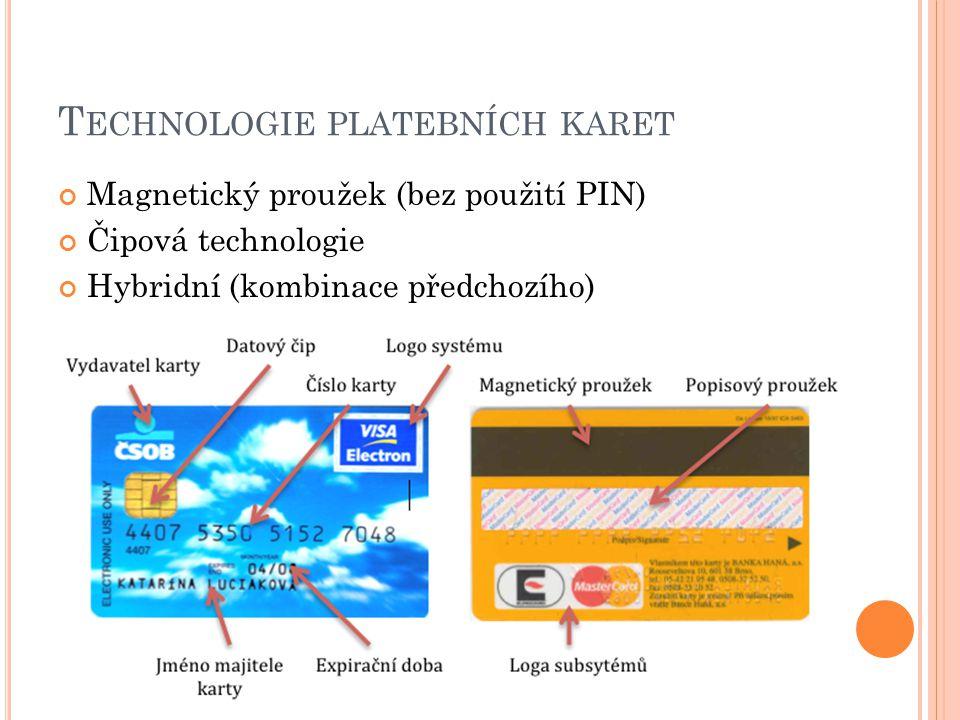 Technologie platebních karet