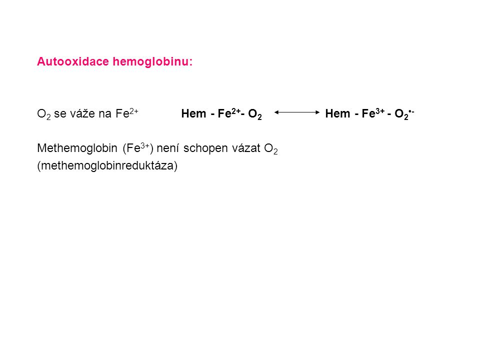 Autooxidace hemoglobinu: