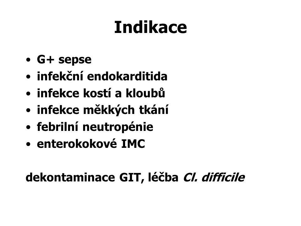 Indikace G+ sepse infekční endokarditida infekce kostí a kloubů