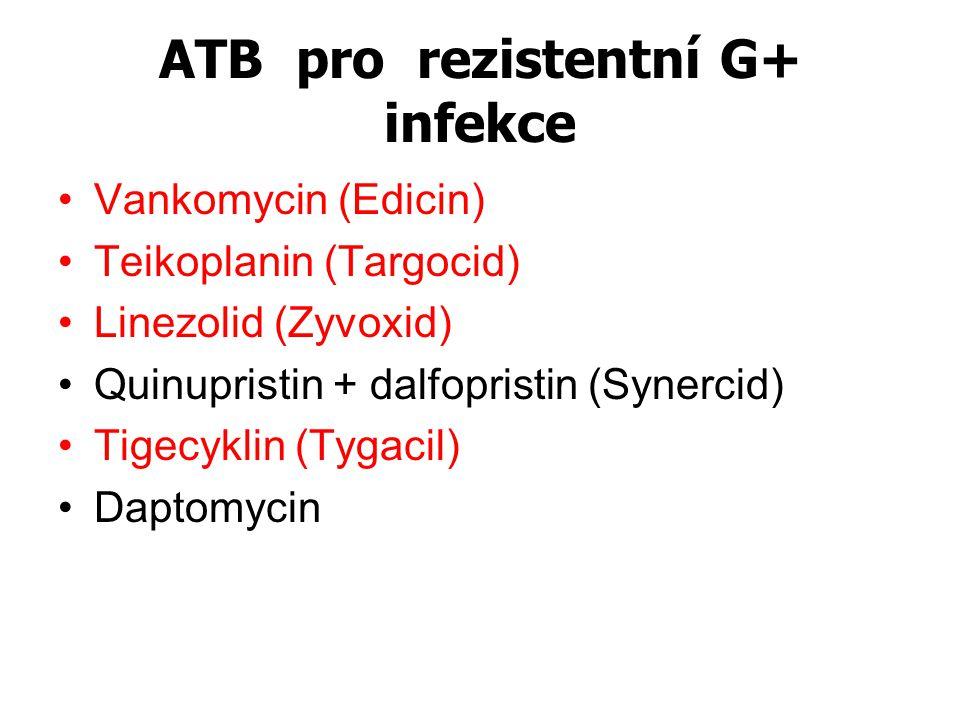 ATB pro rezistentní G+ infekce