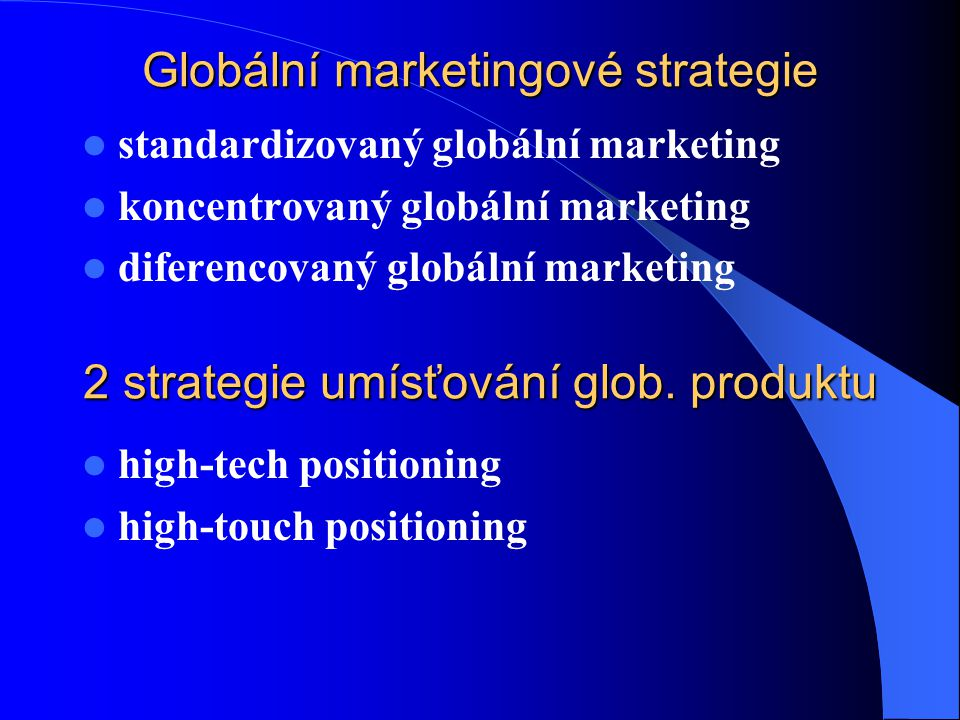 Globální marketingové strategie