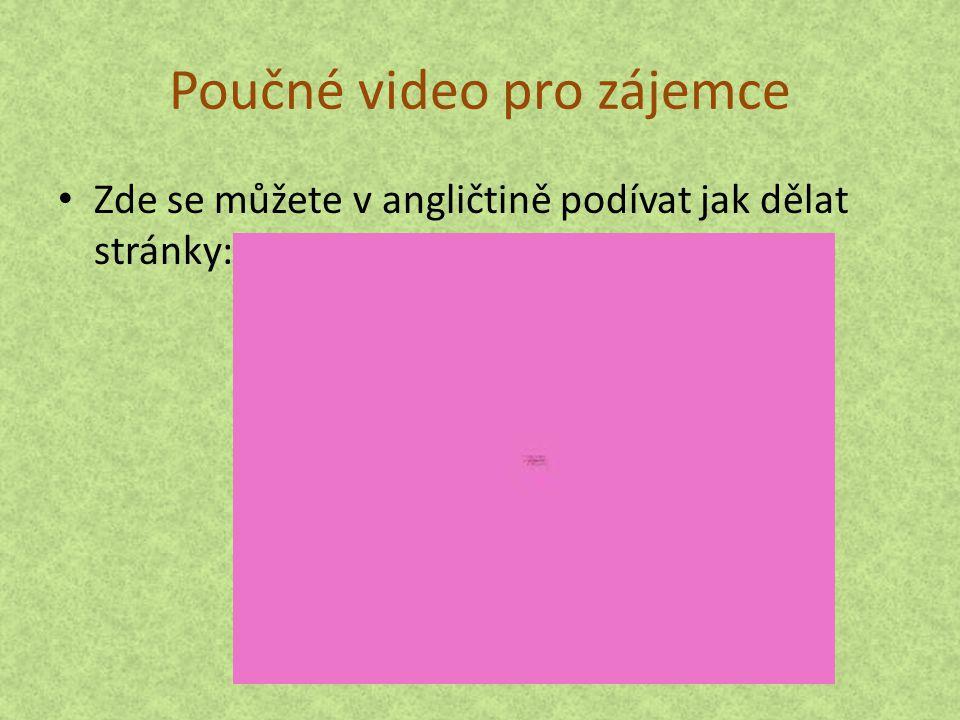 Poučné video pro zájemce