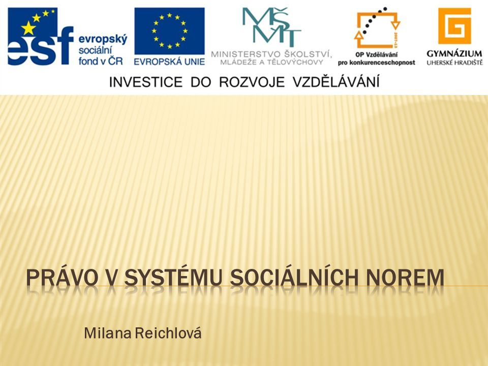 Právo v systému sociálních norem