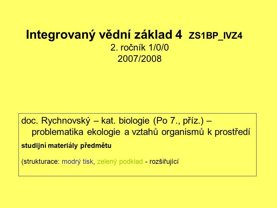 Integrovaný vědní základ 4 ZS1BP_IVZ4