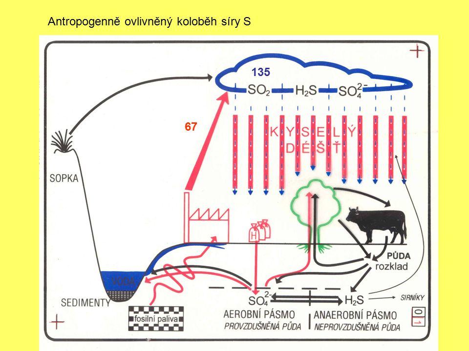 Antropogenně ovlivněný koloběh síry S