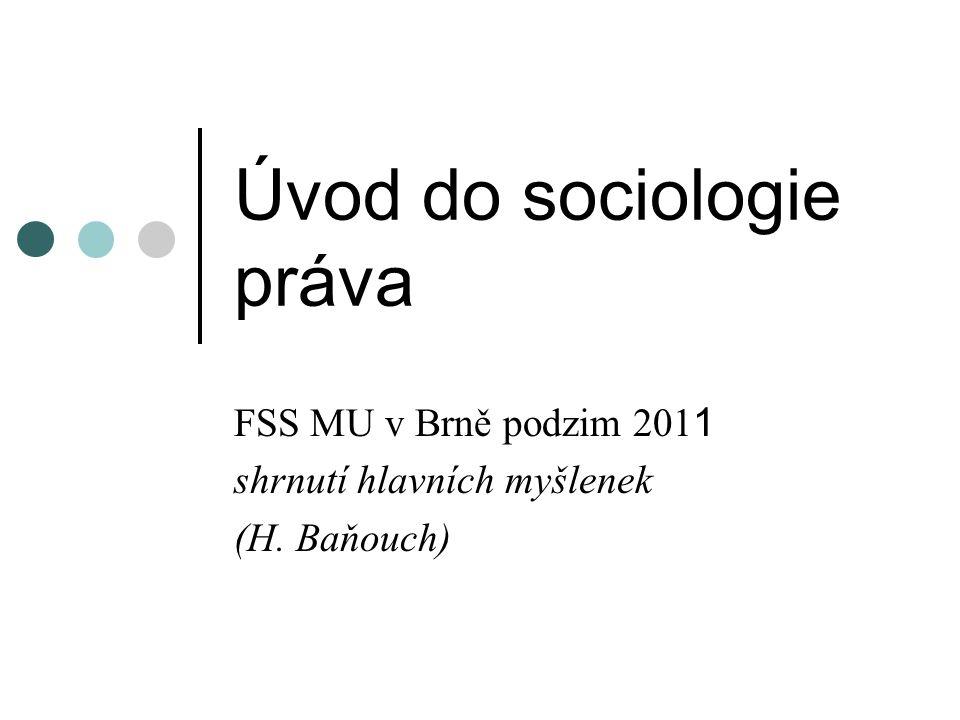 Úvod do sociologie práva