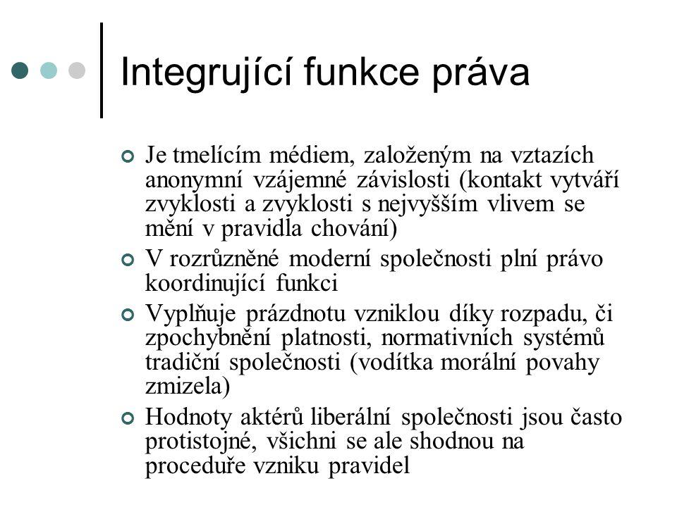Integrující funkce práva
