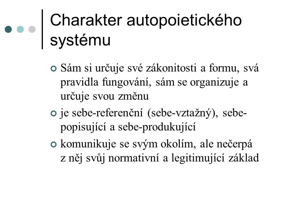 Charakter autopoietického systému