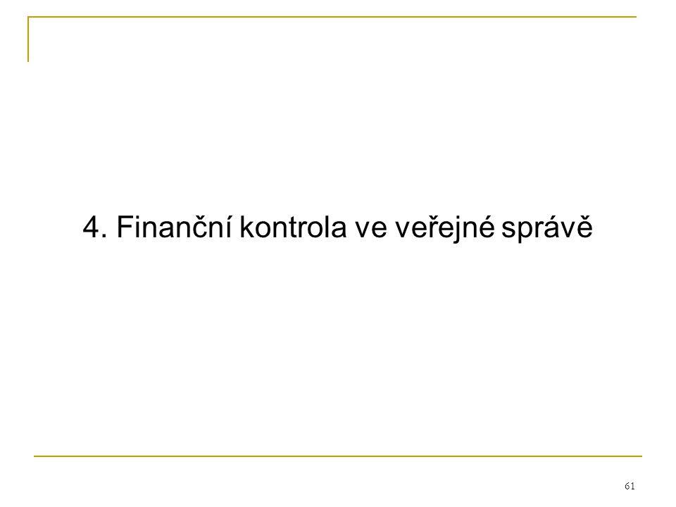 4. Finanční kontrola ve veřejné správě