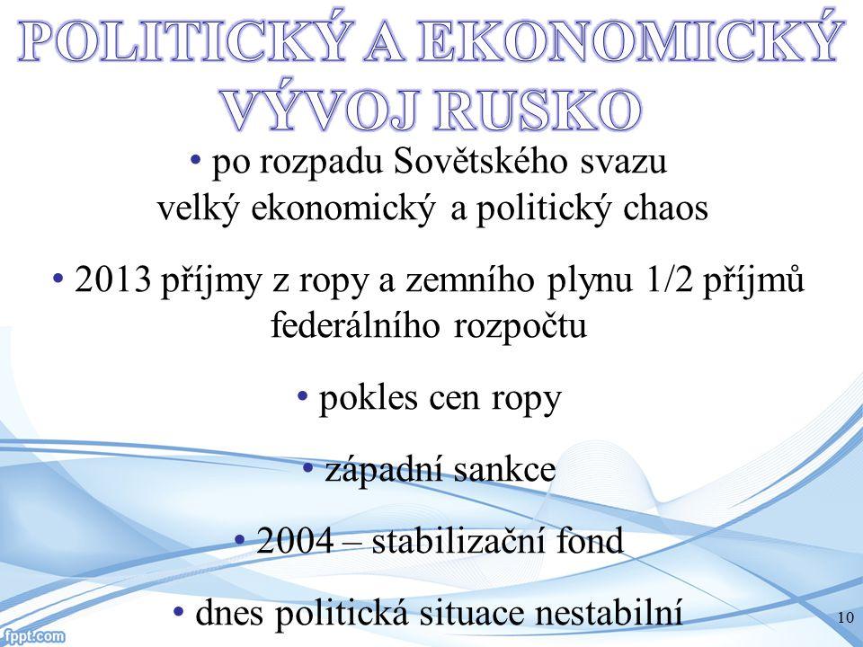 POLITICKÝ A EKONOMICKÝ VÝVOJ RUSKO