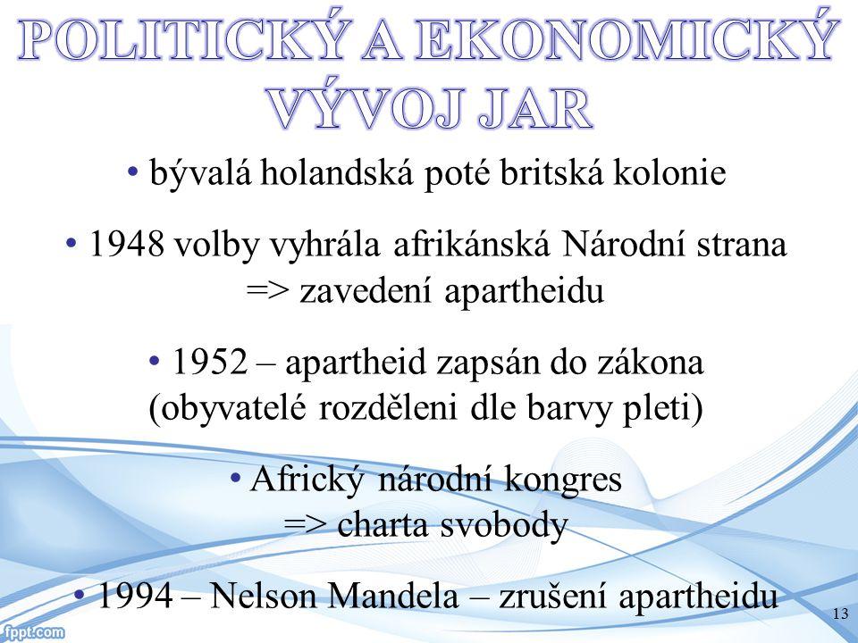 POLITICKÝ A EKONOMICKÝ VÝVOJ JAR