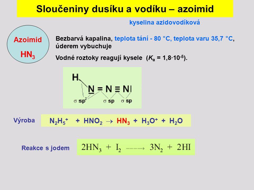 Sloučeniny dusíku a vodíku – azoimid
