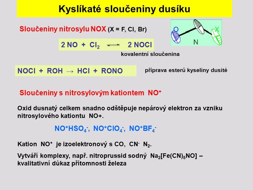Kyslíkaté sloučeniny dusíku