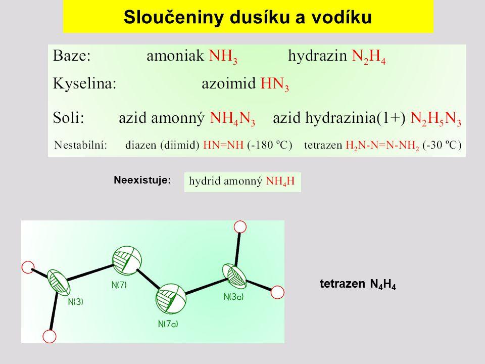 Sloučeniny dusíku a vodíku