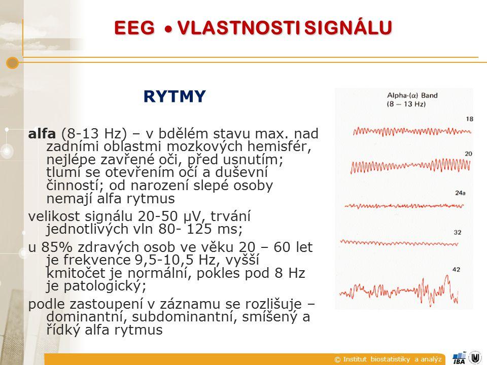EEG  VLASTNOSTI SIGNÁLU