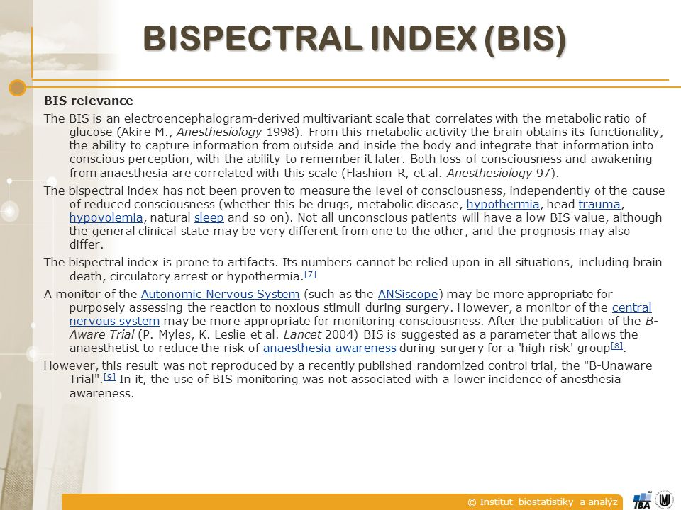 Bispectral index (BIS)