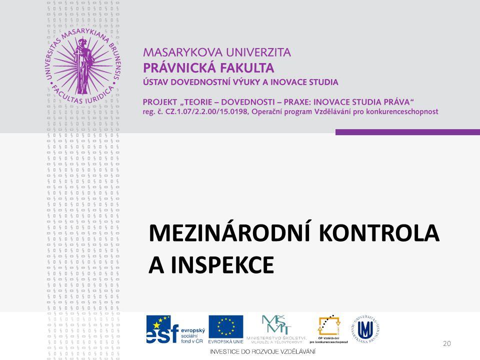 Mezinárodní kontrola a inspekce