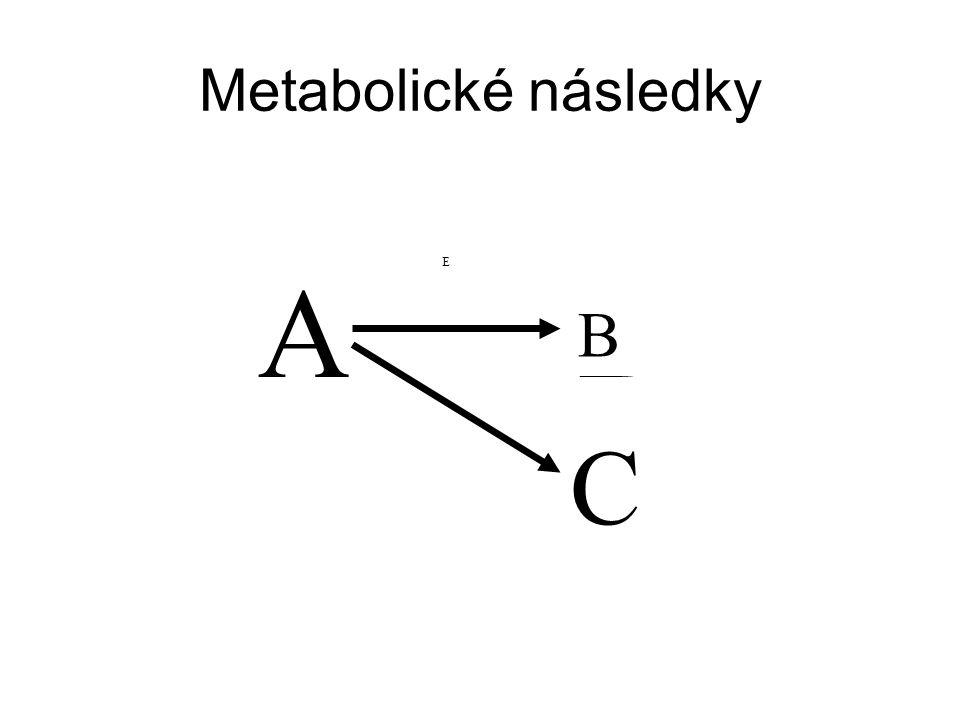 Metabolické následky E E A B A B C