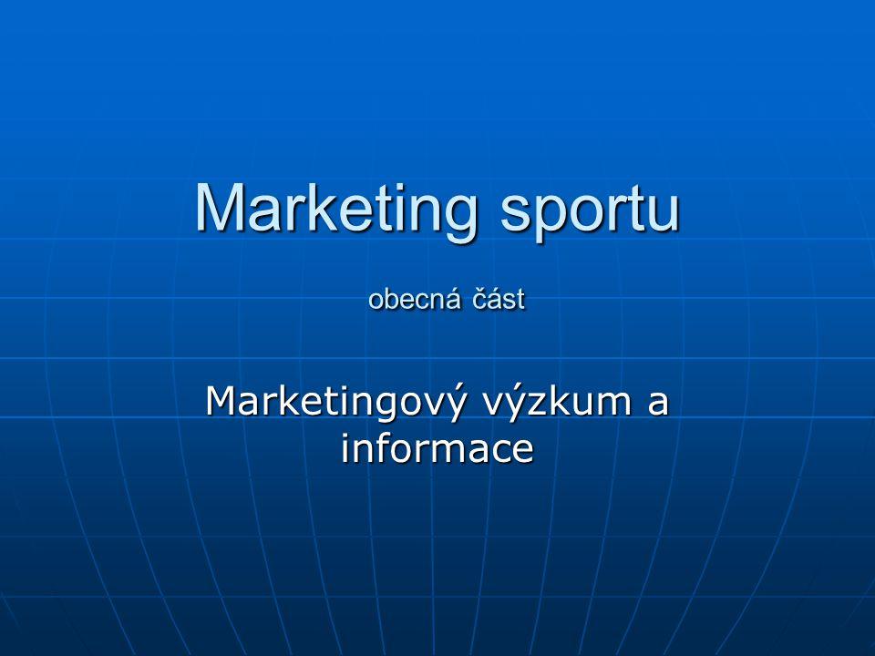 Marketing sportu obecná část
