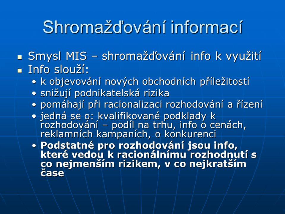 Shromažďování informací