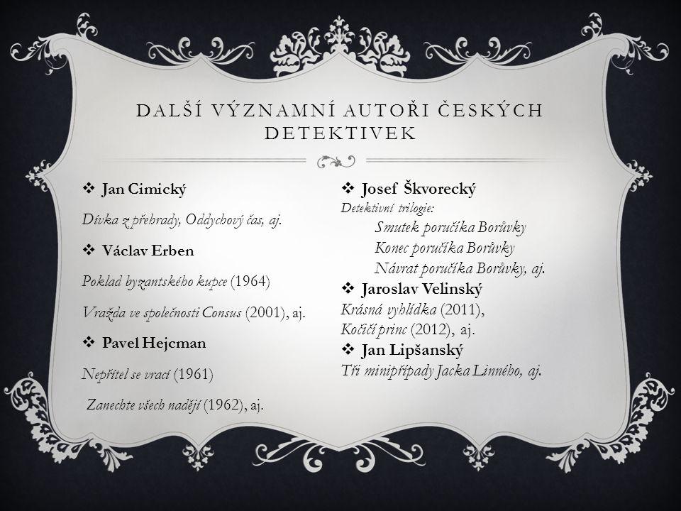 Další významní autoři českých detektivek