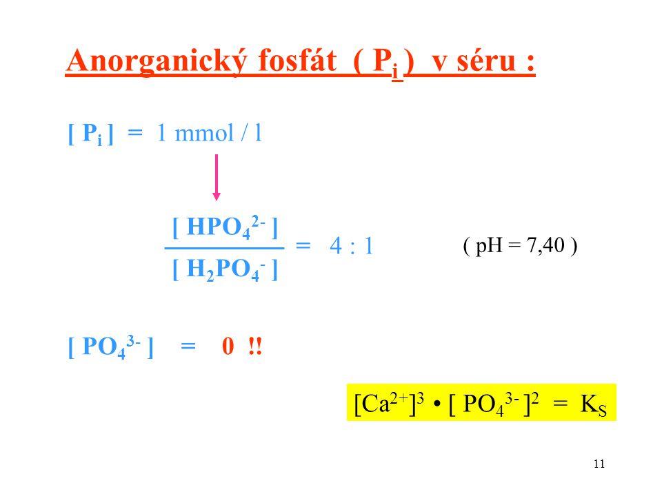 Anorganický fosfát ( Pi ) v séru :