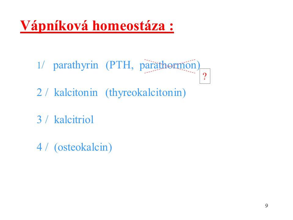 Vápníková homeostáza :