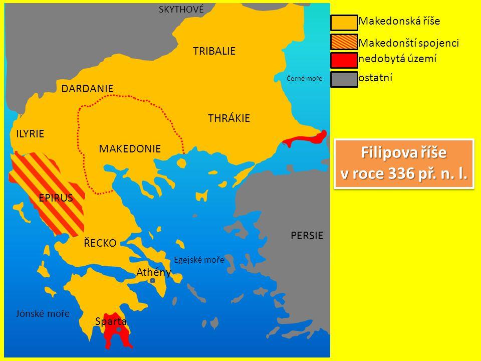 Filipova říše v roce 336 př. n. l.