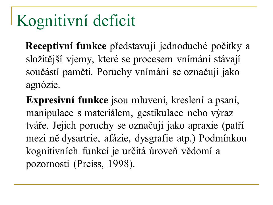 Kognitivní deficit